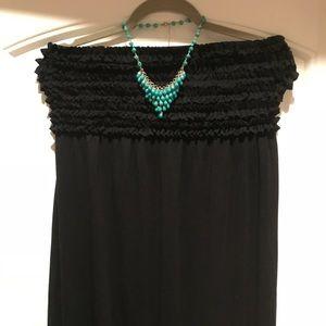 Xhilaration black strapless dress w/ruffled band